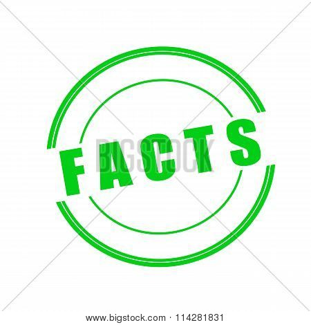 Facts Green Stamp Text On Circle On White Background