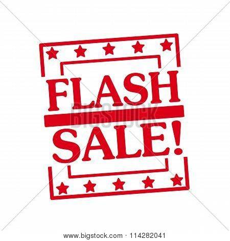 Flash Sale Red Stamp Text On Squares On White Background