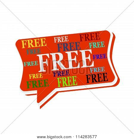 Free Multicolored Word On Red  Speech Bubbles