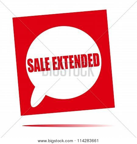 Sale Extended Speech Bubble Icon