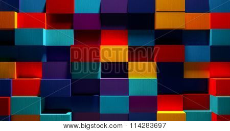 3D Bright Colorful Background