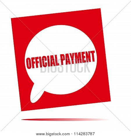 Official Payment Speech Bubble Icon