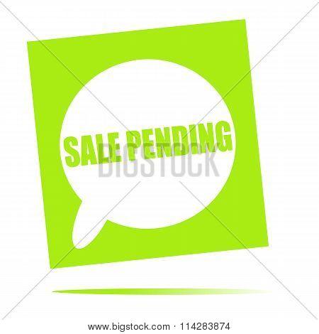 Sale Pending Speech Bubble Icon