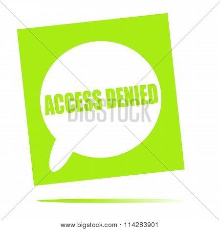 Access Denied Speech Bubble Icon