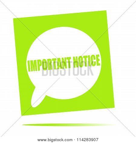 Important Notice Speech Bubble Icon