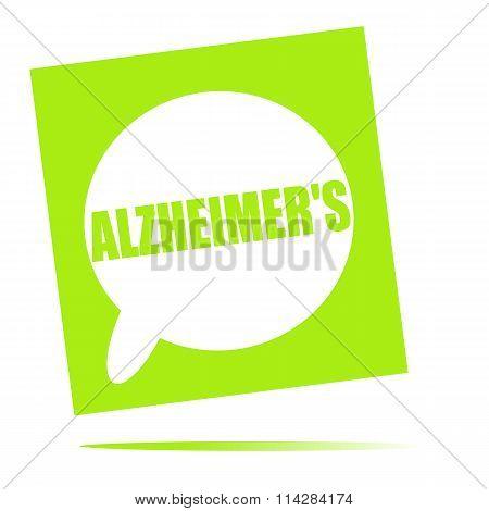 Alzheimer's Speech Bubble Icon