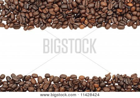 Coffee Beans Stripes, Isolated