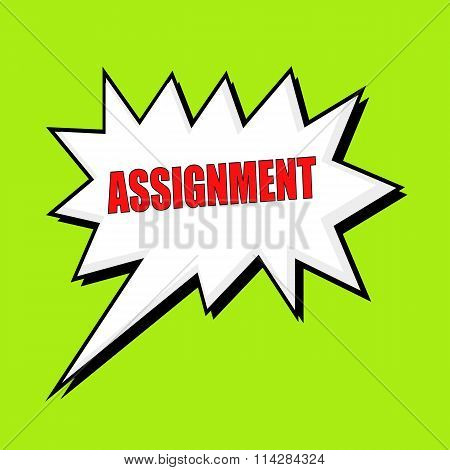 Assignment Wording Speech Bubble