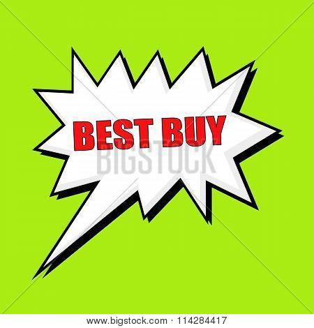 Best Buy Wording Speech Bubble