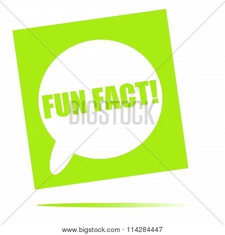 Fun Fact Speech Bubble Icon