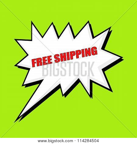 Free Shipping Wording Speech Bubble