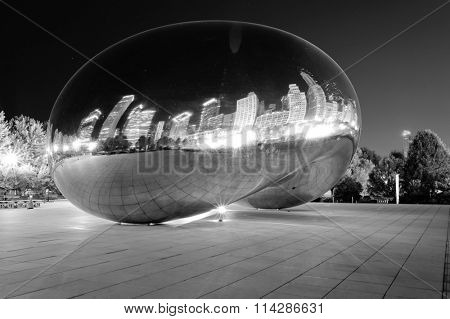 Millennium Park, Chicago. Cloud Gate, also known as the Bean is one of the parks major attractions