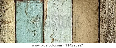 weathered painted wood planks background