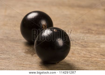Berry Jaboticaba On Wooden Table