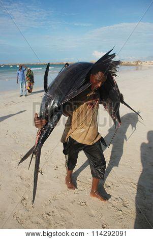 Mogadishu Port in Somalia
