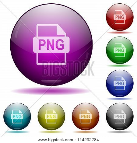 Png File Format Glass Sphere Buttons