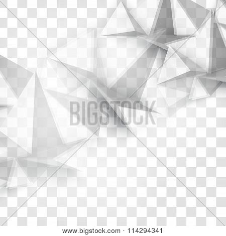 Vector Abstract geometric shape from gray.