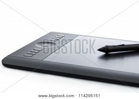 Varna, Bulgaria - January 10, 2016 Wacom Intuos Pro Graphic Tablet With Digital Pen