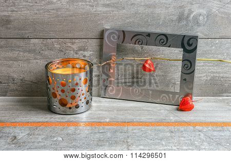 Gray And Orange Still Life