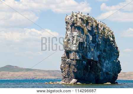 Big rock in the sea