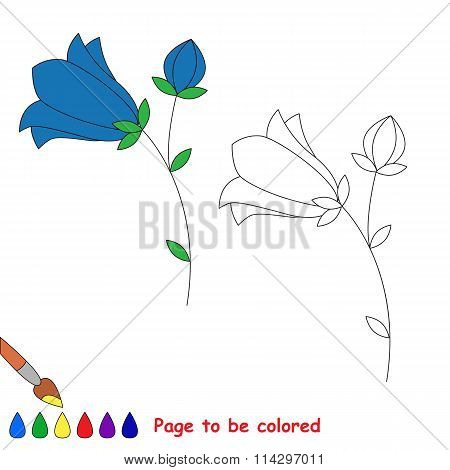 Bluebell In Vector Cartoon To Be Colored.