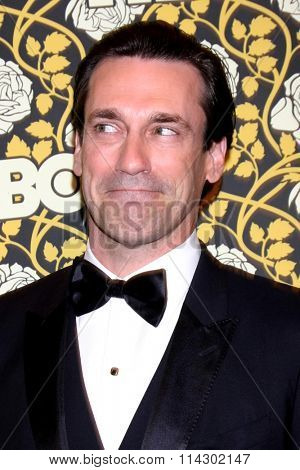 LOS ANGELES - JAN 10:  Jon Hamm at the HBO Golden Globes After Party 2016 at the Beverly Hilton on January 10, 2016 in Beverly Hills, CA