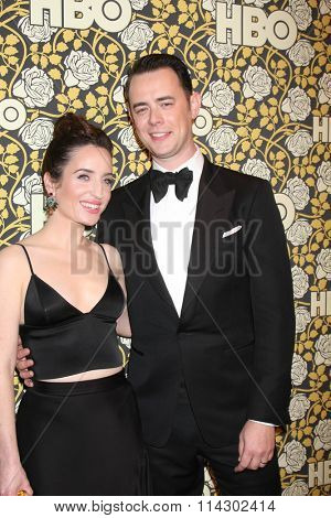 LOS ANGELES - JAN 10:  Zoe Lister-Jones, Colin Hanks at the HBO Golden Globes After Party 2016 at the Beverly Hilton on January 10, 2016 in Beverly Hills, CA