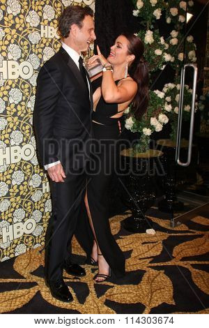 LOS ANGELES - JAN 10:  Tony Goldwyn, Bellamy Young at the HBO Golden Globes After Party 2016 at the Beverly Hilton on January 10, 2016 in Beverly Hills, CA