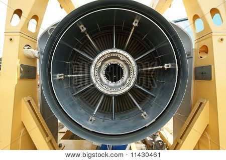 Inside The Rear Of A Jet Engine