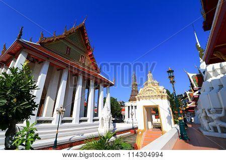 Chapel in Wat Intharam - The Old Uposatha of Wat Bang Yi Ruea Nok Thonburi, Bangkok Thailand