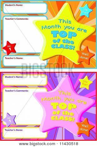 Children's Reward Certificate
