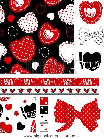 Cute Valentine Seamless Pattern