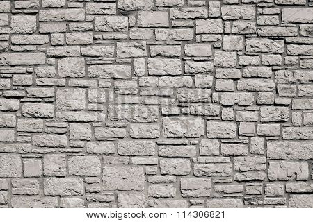 Old Wall From A Stone Brick Of Beige Color