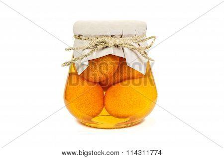 Mandarin Jam Isolated On White Background
