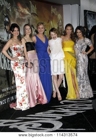 Carla Gugino, Jena Malone, Abbie Cornish, Emily Browning, Jamie Chung and Vanessa Hudgens at the LA premiere of