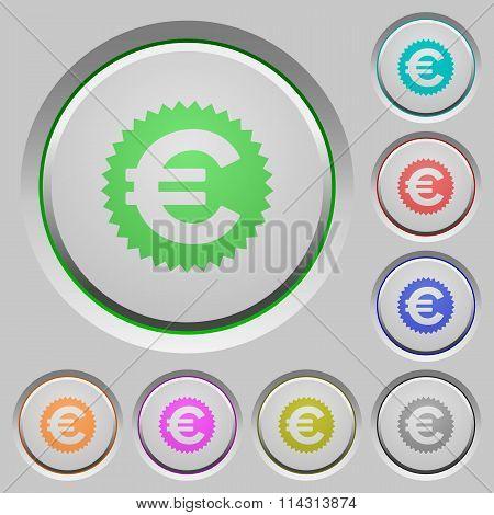 Euro Sticker Push Buttons