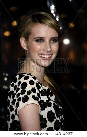 Emma Roberts at the Los Angeles Premiere of