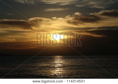 Spectacular Marine Sunset