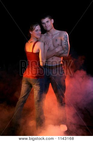 Full Length Smoking Couple