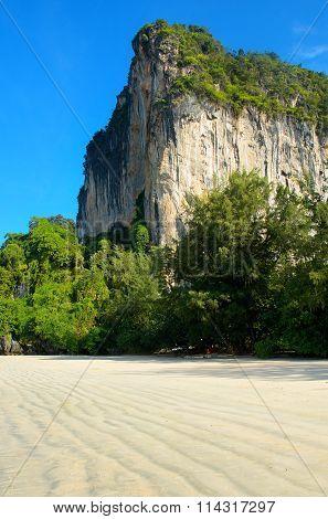 Cliff on beautiful Railay beach, Thailand