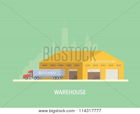 Vector illustration on the theme of Logistics