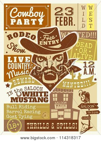 Cowboy Poster Illustration