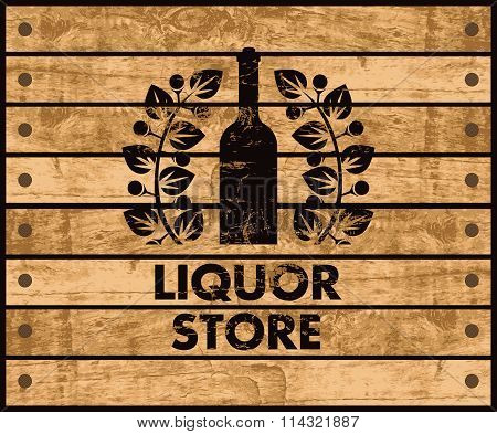 Wine And Liquor Store Sign
