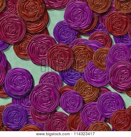 Funfair lots of paper roses