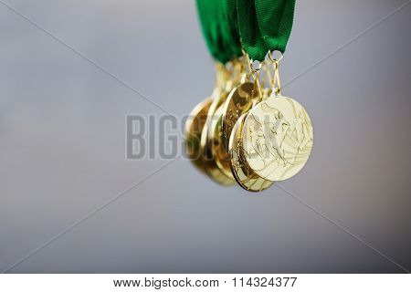 Golden Running Marathon Race Medals, Award