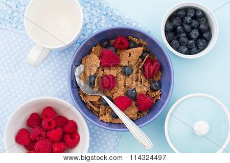 Healthy Cereal Breakfast.