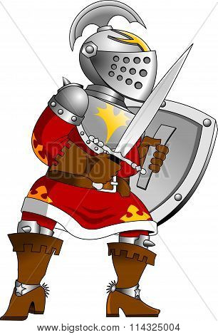 Knight In Red Armor