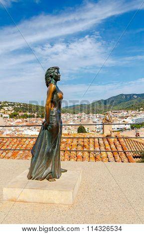 Tossa De Mar. Monument Ava Gardner.