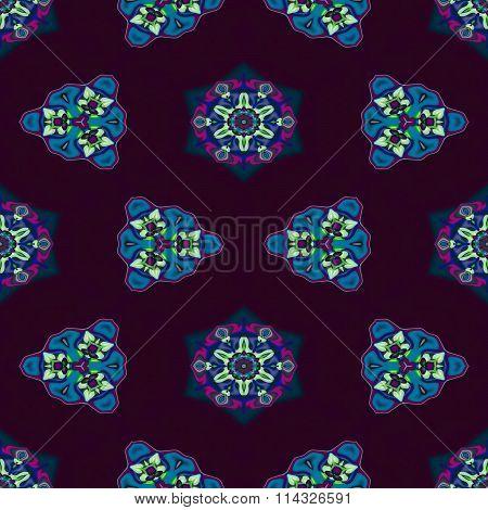 Floral decorative oriental arabian cashmere seamless pattern