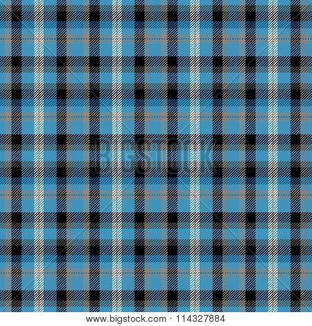 Blue white black checkered regular seamless pattern